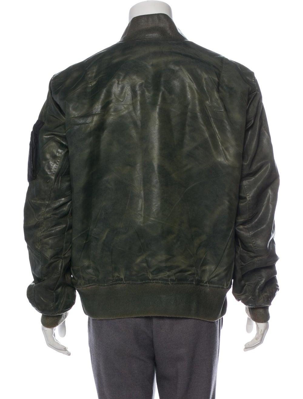Antonio Barragan Wax Bomber Jacket green - image 3