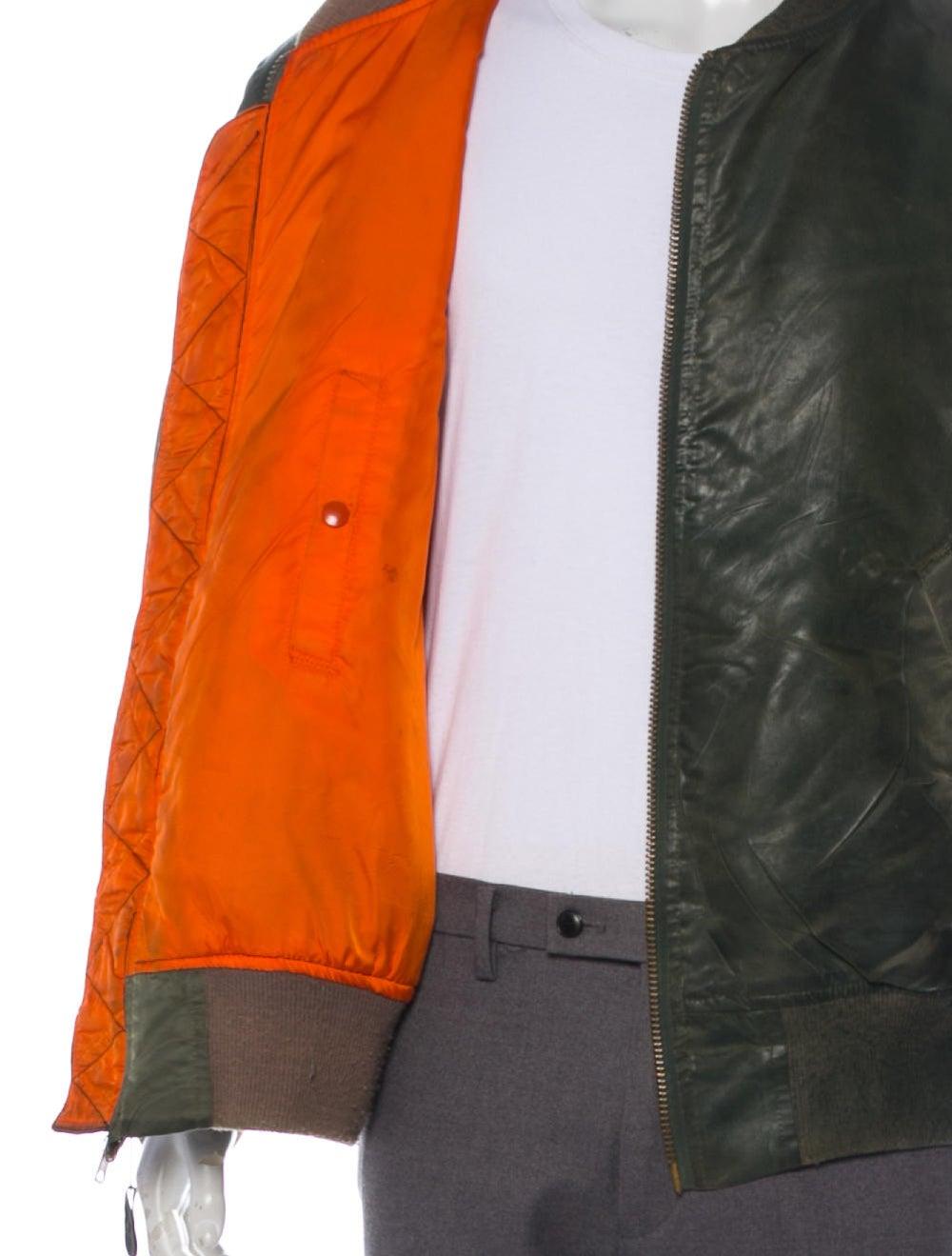 Antonio Barragan Wax Bomber Jacket green - image 4