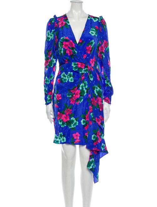 Essentiel Antwerp Silk Long Dress Blue