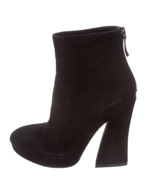 Alice + Olivia Suede Platform Boots Black