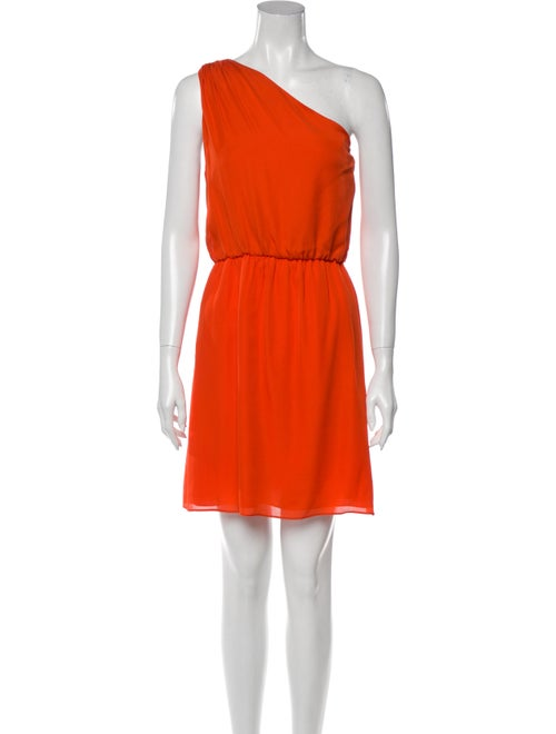 Alice + Olivia Silk Mini Dress Orange