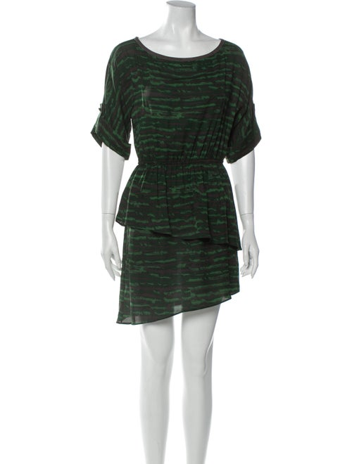 Alice + Olivia Silk Mini Dress Green