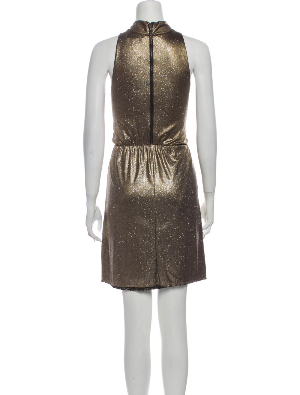 Alice + Olivia Dress Gold - image 3