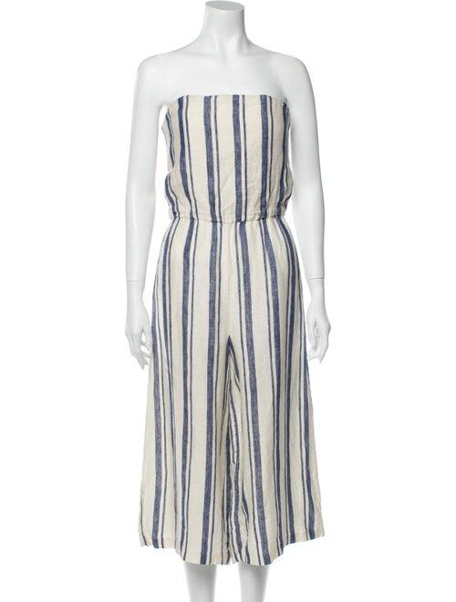 Alice + Olivia Linen Striped Jumpsuit