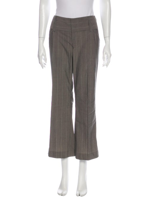 Alice + Olivia Striped Wide Leg Pants Grey