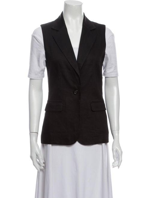 Alice + Olivia Linen Vest Black