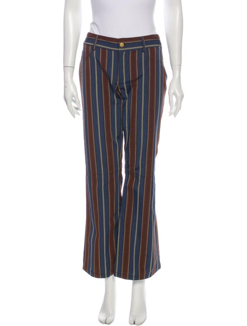 Alice + Olivia Striped Wide Leg Pants Blue