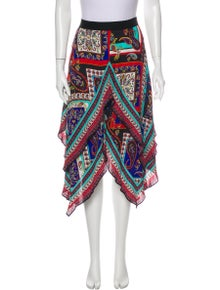 Alice + Olivia Printed Midi Length Skirt