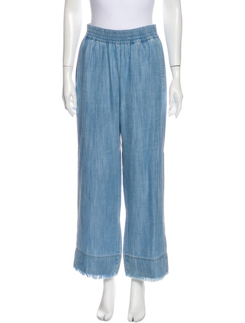 Alice + Olivia Wide Leg Pants Blue