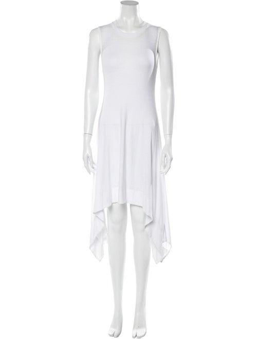 Alice + Olivia Sleeveless Midi Dress White