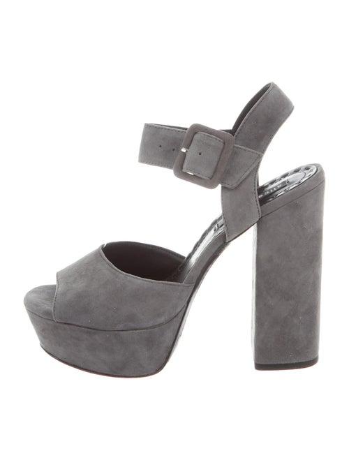Alice + Olivia Suede Sandals Grey