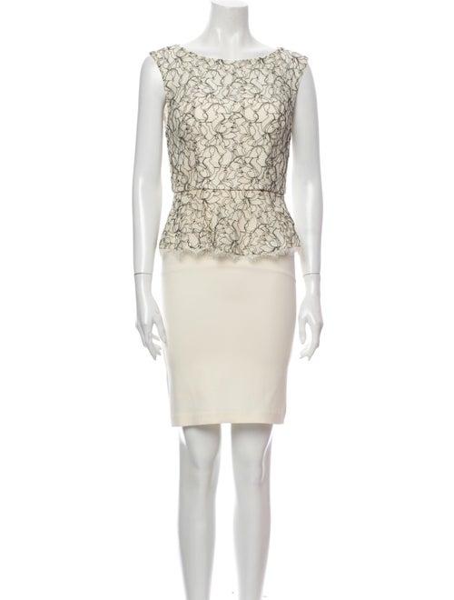 Alice + Olivia Lace Pattern Mini Dress