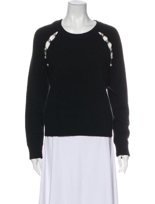 Alice + Olivia Scoop Neck Sweater Black