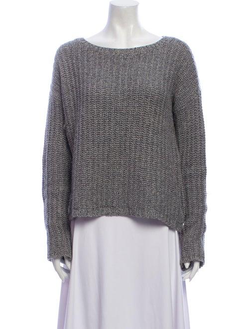 Alice + Olivia Bateau Neckline Sweater Grey