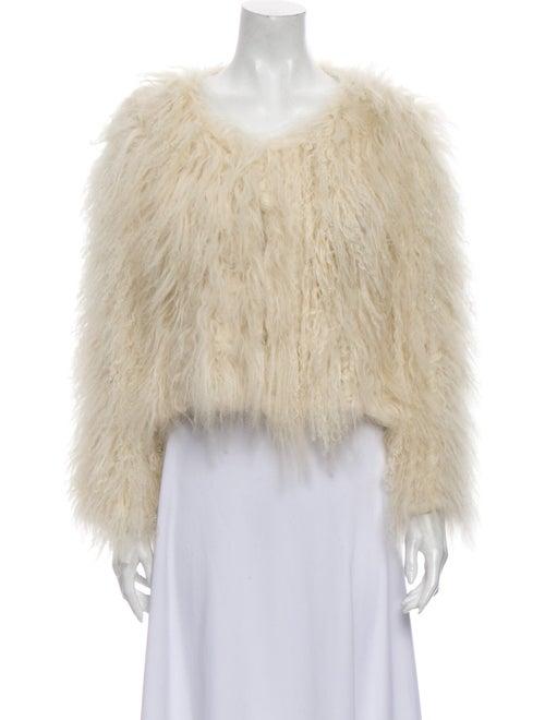 Alice + Olivia Fur Jacket White