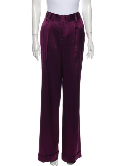 Alice + Olivia Wide Leg Pants Purple