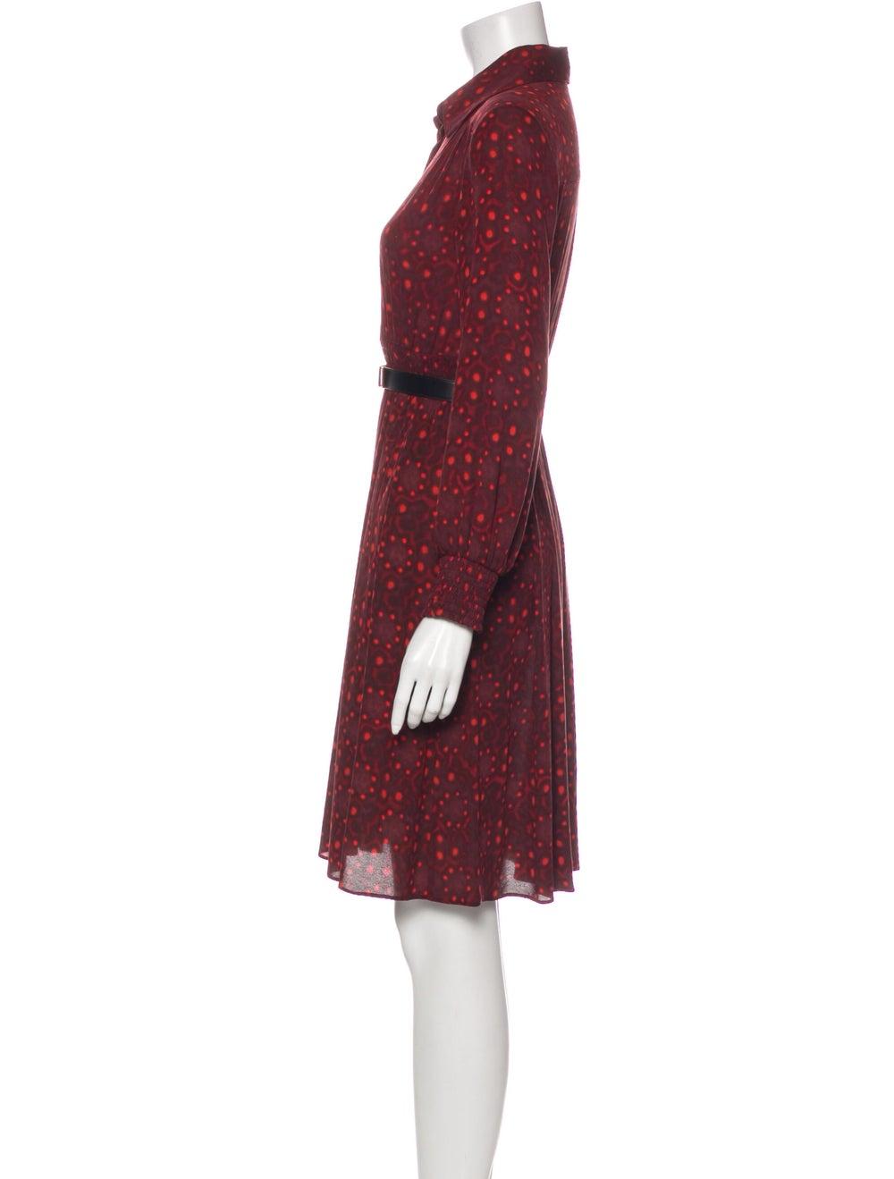 Alice + Olivia Silk Knee-Length Dress - image 2