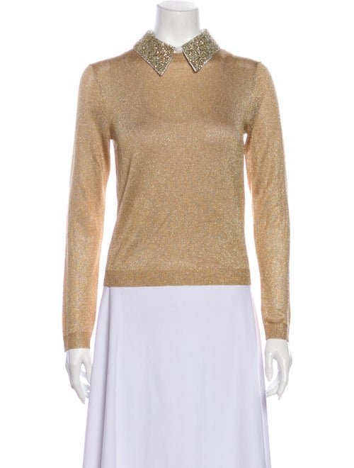 Alice + Olivia Sweater w/ Tags Gold