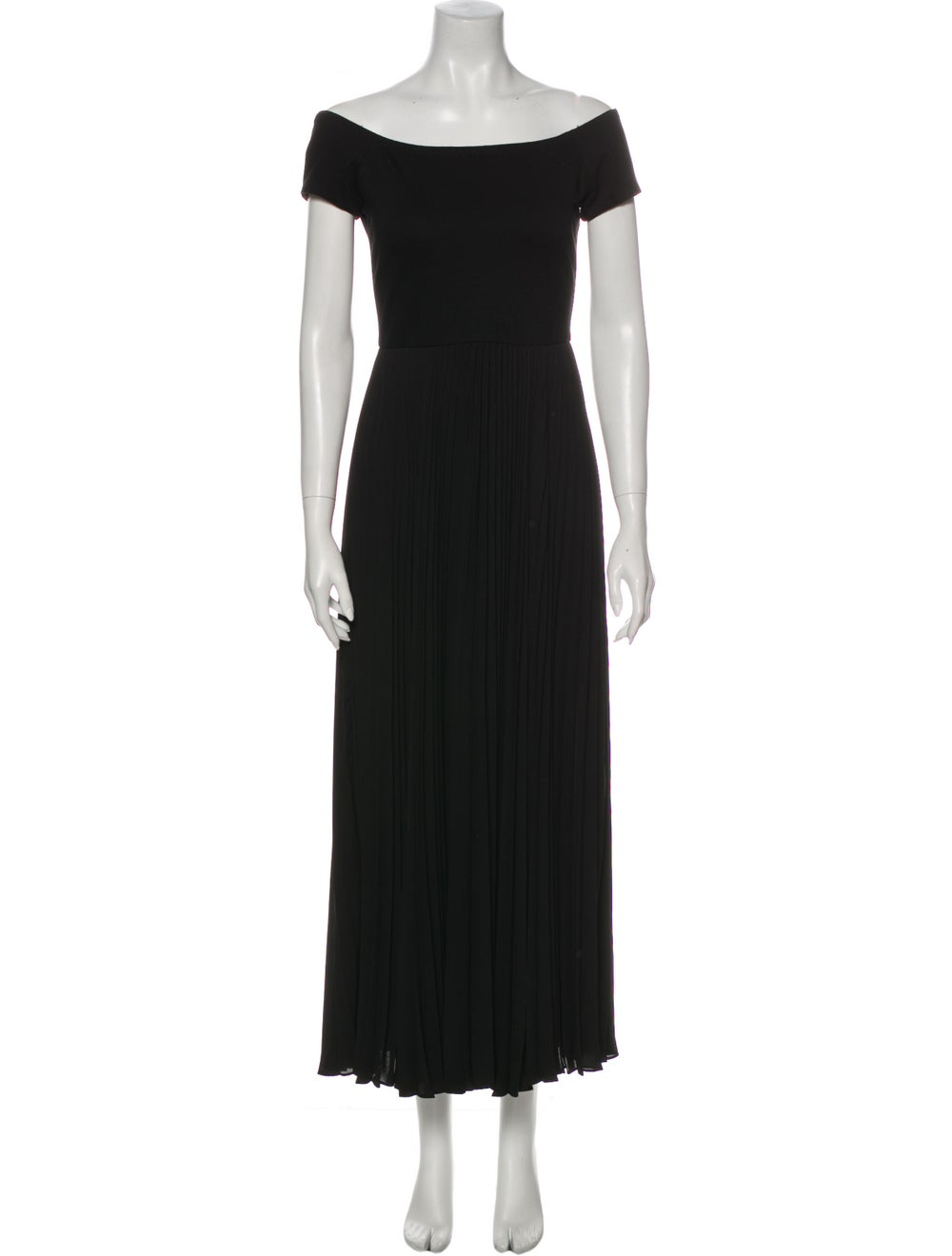 NEW $485 Alice and Olivia Mitsy Off-the-Shoulder Maxi Dress 0