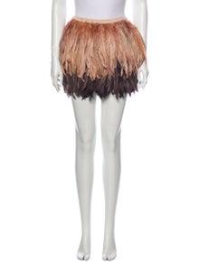 Alice + Olivia Feather Mini Skirt