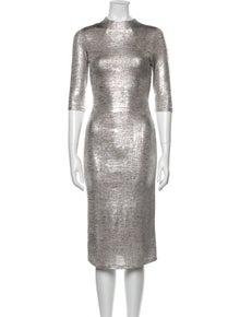 Alice + Olivia Crew Neck Midi Length Dress w/ Tags