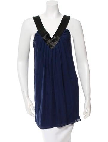 Alice + Olivia Silk Embellished Top