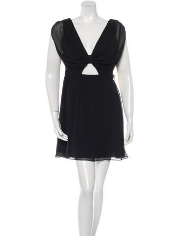 Alice + Olivia Cut-Out Sleeveless Dress