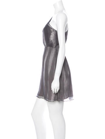 One-Shoulder Silk Dress