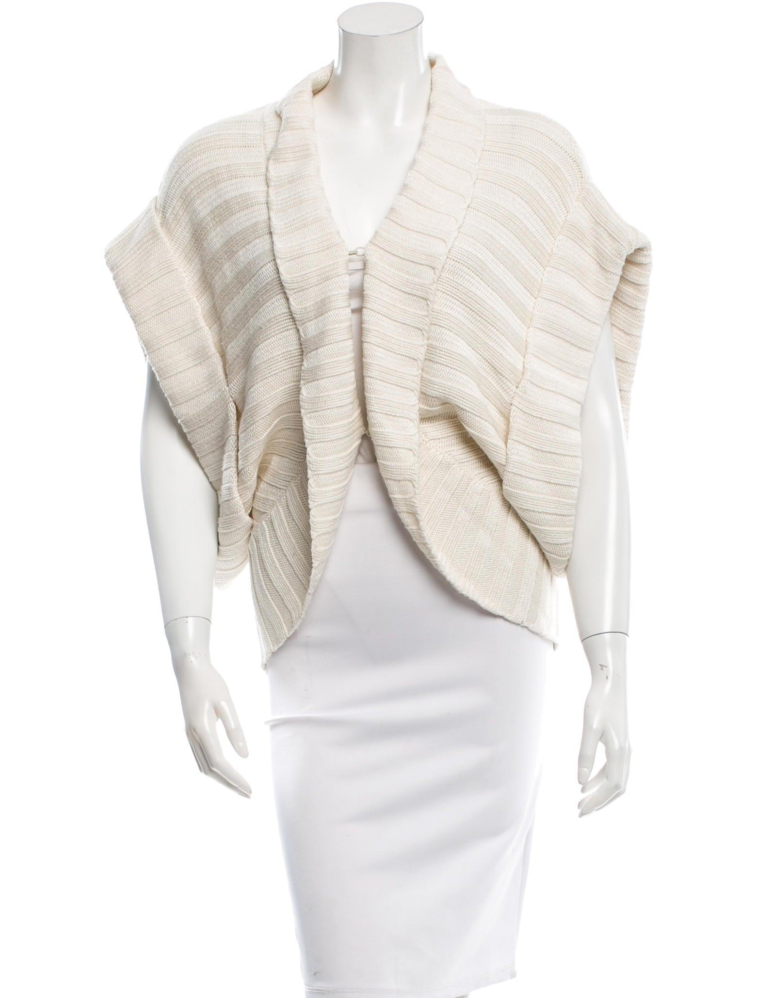 Knitting Cardigan Collar : Alice olivia rib knit shawl collar cardigan clothing