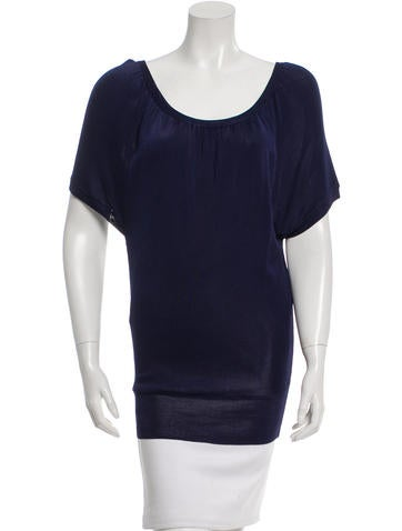 Alice + Olivia Draped Knit Top None