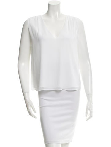 Alice + Olivia Sleeveless V-Neck Blouse
