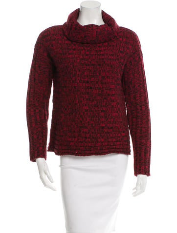 Alice + Olivia Wool Rib Knit Sweater None