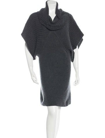 Alice + Olivia Cowl Neck Sweater Dress None