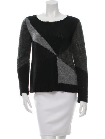 Alice + Olivia Colorblock Knit Sweater None