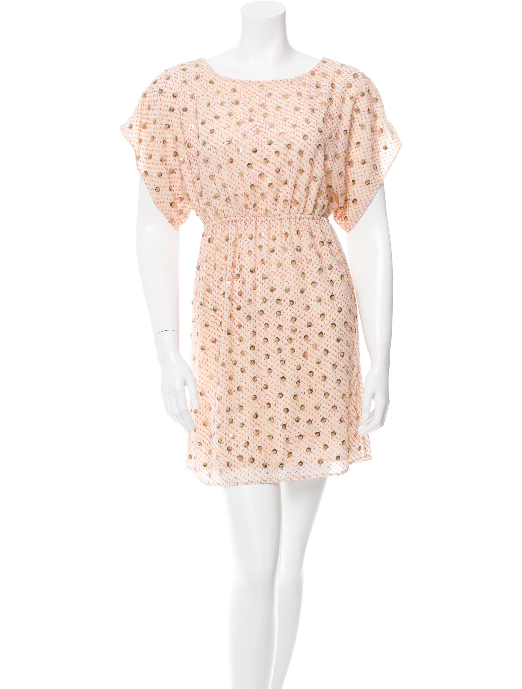 textured bead embellished dress clothing