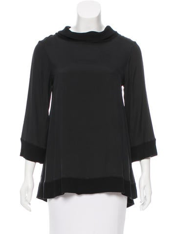 Alice + Olivia Silk Long Sleeve Top w/ Tags None