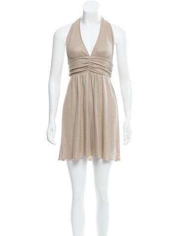 Alice + Olivia Mini Halter Dress None