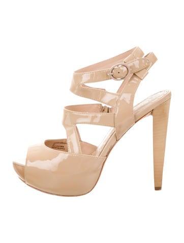 Alice + Olivia Patent Leather Platform Sandals None