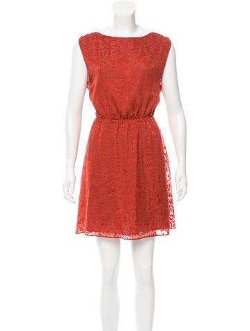 Alice + Olivia Printed Sleeveless Dress