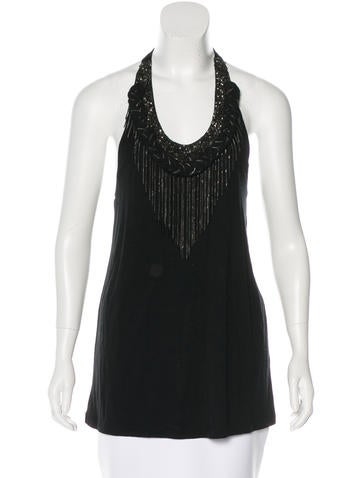 Alice + Olivia Embellished Sleeveless Top None