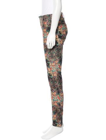 Floral Print Corduroy Pants