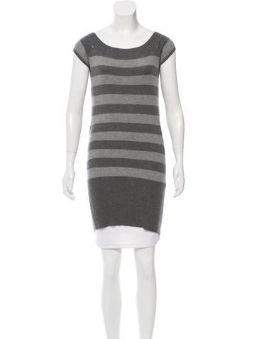 Alice + Olivia Striped Cashmere Tunic None