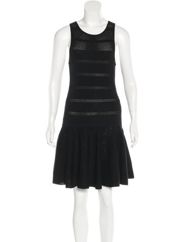 Alice + Olivia Flounced Wool Dress None