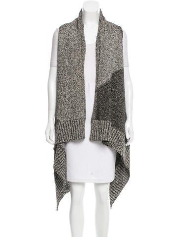 Alice + Olivia Rib Knit Open Front Vest w/ Tags None