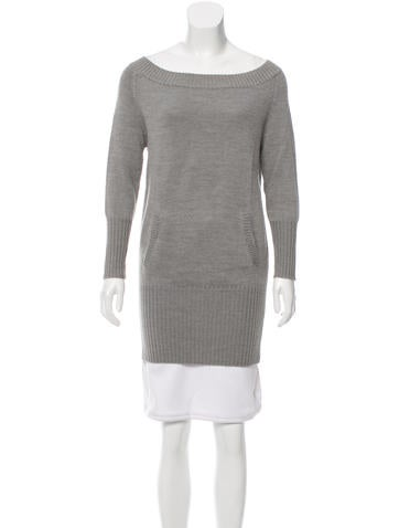 Alice + Olivia Off The Shoulder Sweater Tunic None