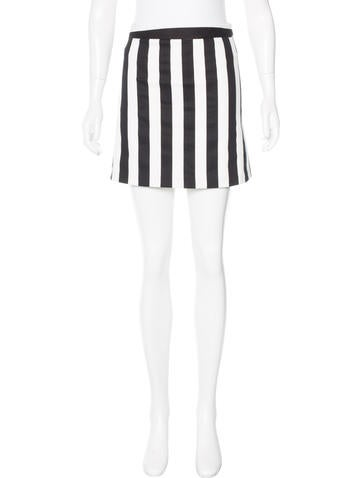 Alice + Olivia Striped Mini Skirt