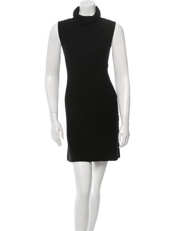 Alice + Olivia Wool-Blend Sleevless Dress None