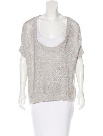 Alice + Olivia Metallic Oversize Sweater None