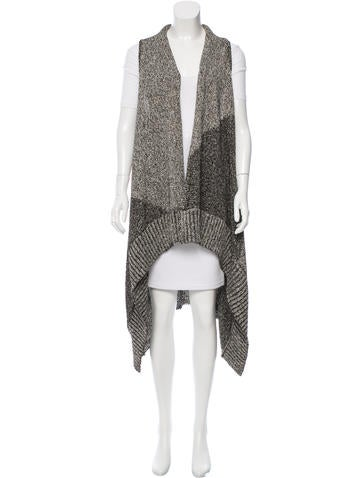 Alice + Olivia Oversize Open Front Vest None