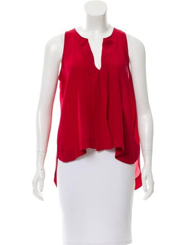 Alice + Olivia Silk Sleeveless Top None